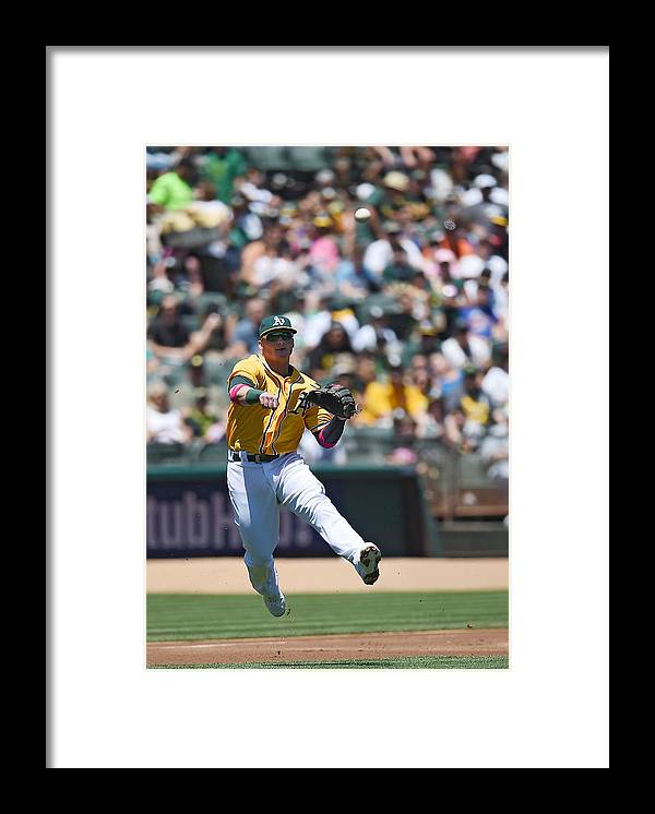 American League Baseball Framed Print featuring the photograph Anthony Rendon And Josh Donaldson by Thearon W. Henderson