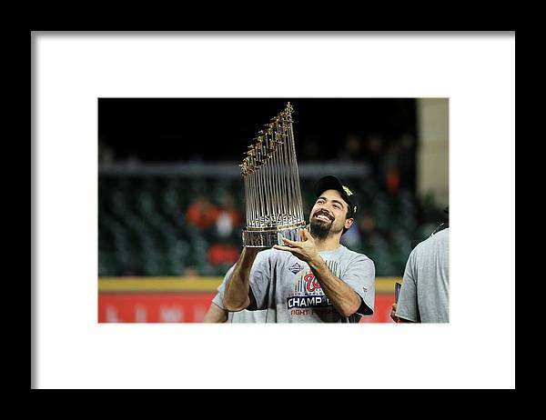 American League Baseball Framed Print featuring the photograph Anthony Rendon by Mike Ehrmann