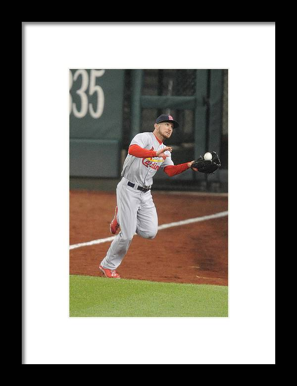 St. Louis Cardinals Framed Print featuring the photograph Anthony Rendon by Mitchell Layton