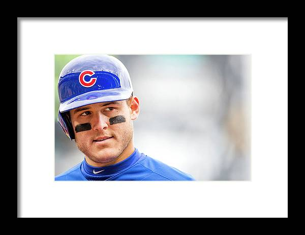 American League Baseball Framed Print featuring the photograph Anthony Rizzo and Gregory Polanco by Taylor Baucom