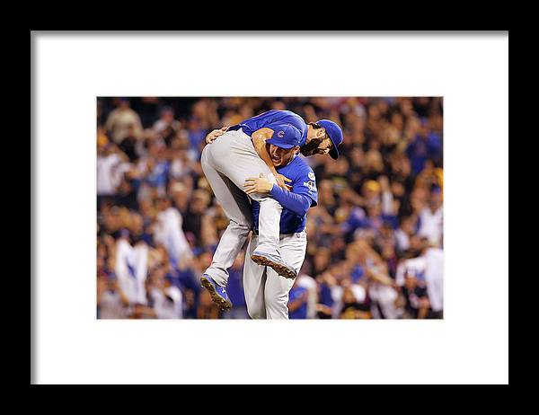Playoffs Framed Print featuring the photograph Anthony Rizzo and Jake Arrieta by Justin K. Aller