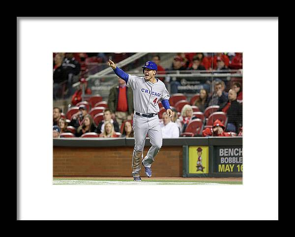 Great American Ball Park Framed Print featuring the photograph Anthony Rizzo by Andy Lyons