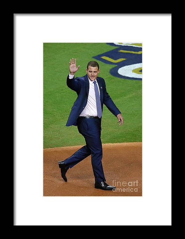 People Framed Print featuring the photograph Anthony Rizzo by Bob Levey
