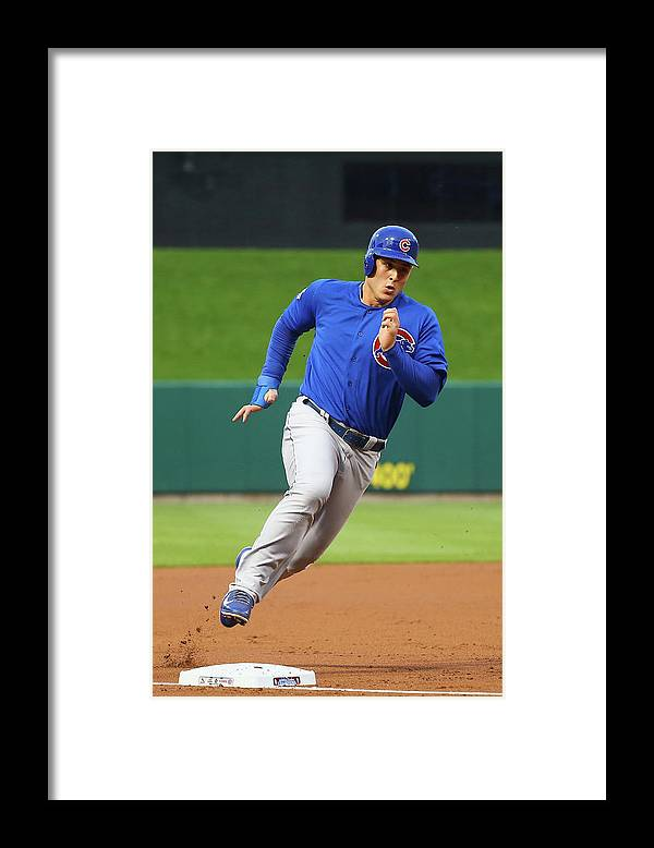 Second Inning Framed Print featuring the photograph Anthony Rizzo by Dilip Vishwanat