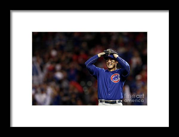 Three Quarter Length Framed Print featuring the photograph Anthony Rizzo by Elsa