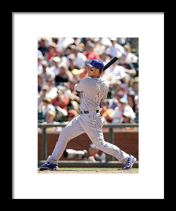 San Francisco Framed Print featuring the photograph Anthony Rizzo by Ezra Shaw