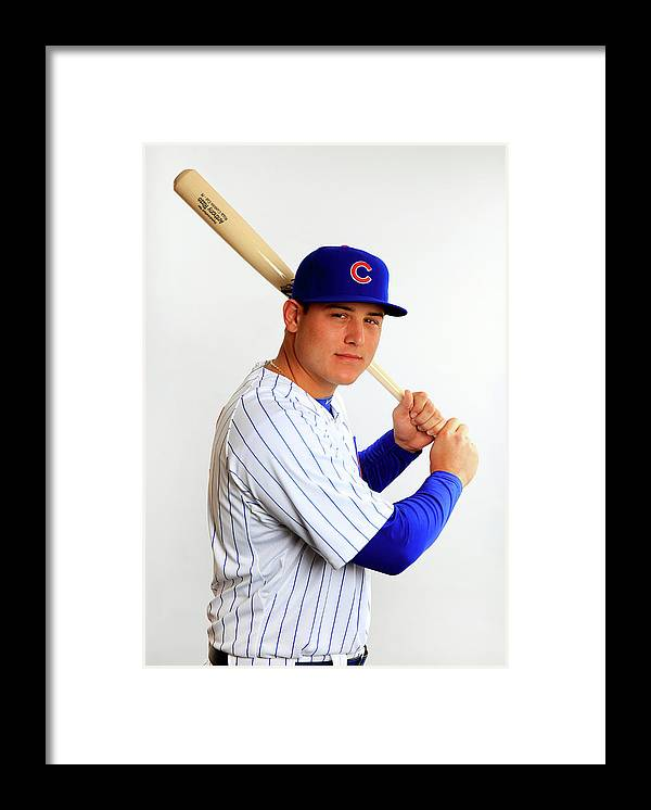 Media Day Framed Print featuring the photograph Anthony Rizzo by Jamie Squire