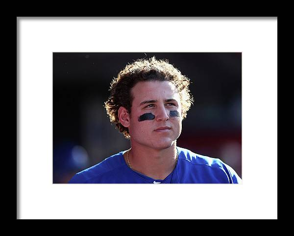 American League Baseball Framed Print featuring the photograph Anthony Rizzo by Jeff Gross