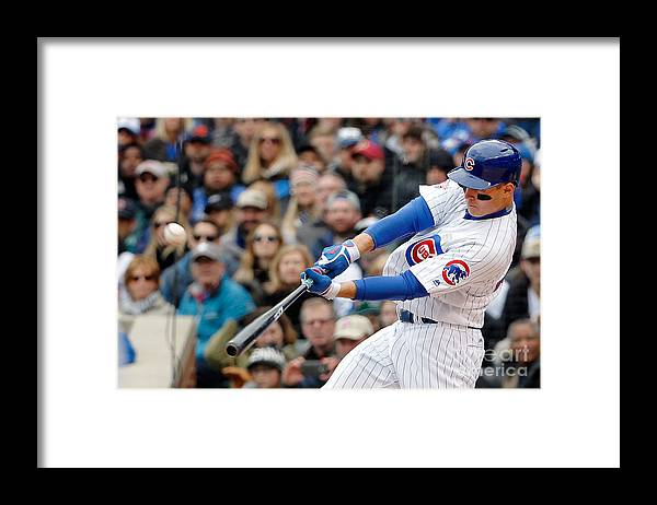 Three Quarter Length Framed Print featuring the photograph Anthony Rizzo by Jon Durr