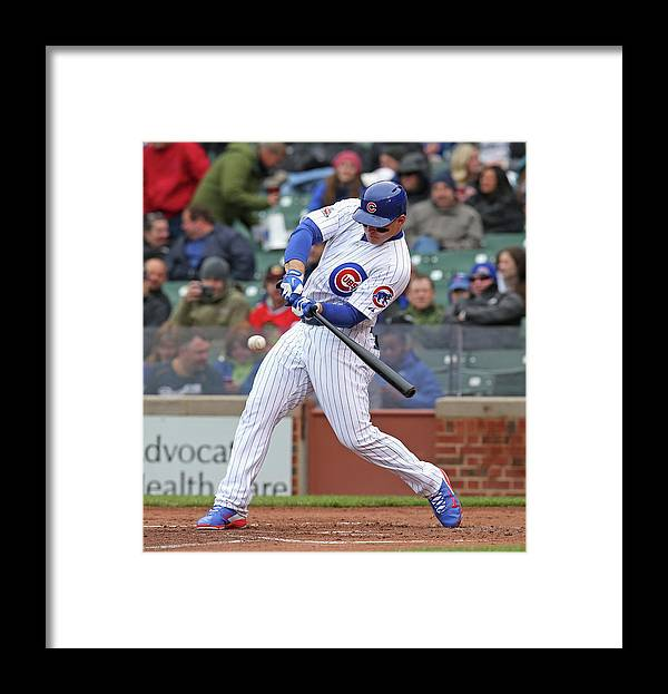 National League Baseball Framed Print featuring the photograph Anthony Rizzo by Jonathan Daniel