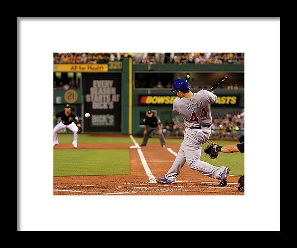 People Framed Print featuring the photograph Anthony Rizzo by Justin K. Aller
