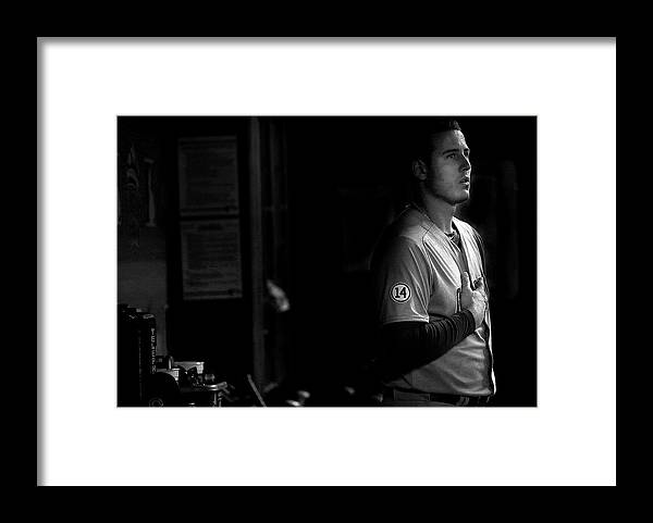 People Framed Print featuring the photograph Anthony Rizzo by Mike Ehrmann