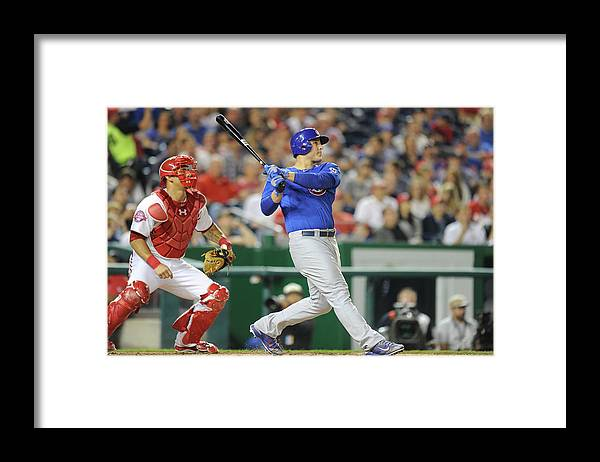 People Framed Print featuring the photograph Anthony Rizzo by Mitchell Layton