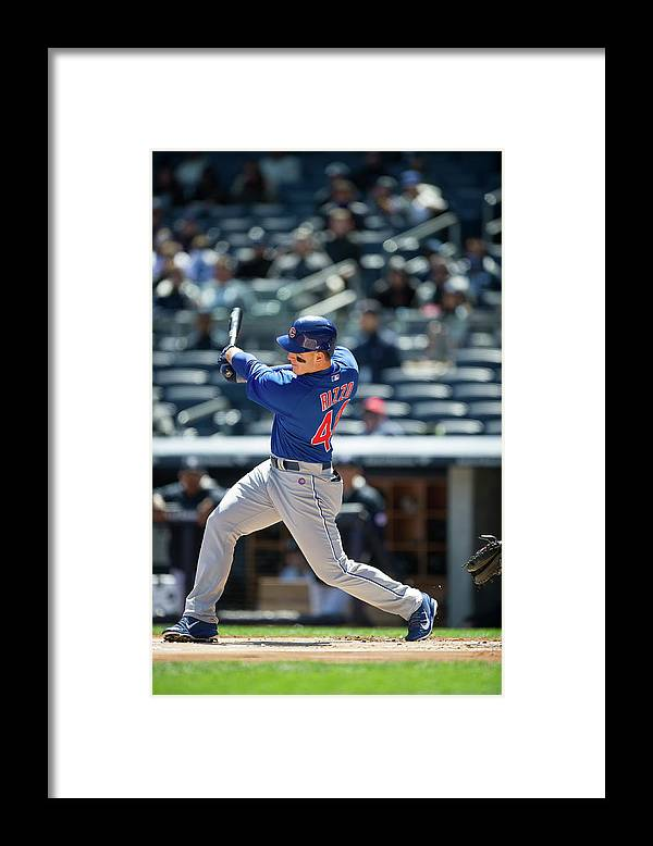 American League Baseball Framed Print featuring the photograph Anthony Rizzo by Rob Tringali
