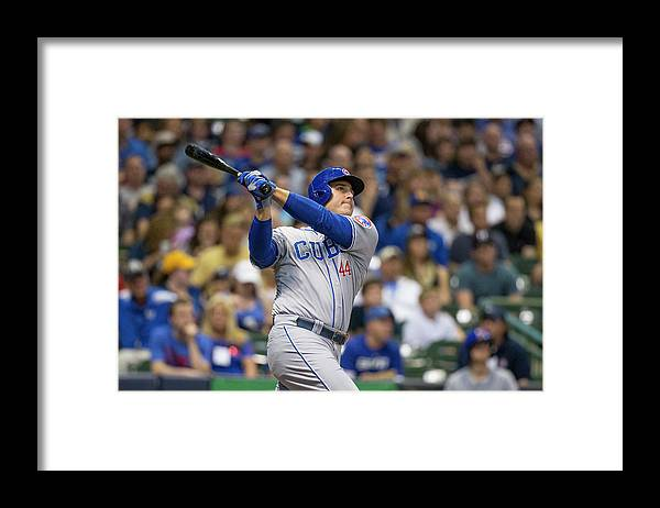 People Framed Print featuring the photograph Anthony Rizzo by Tom Lynn