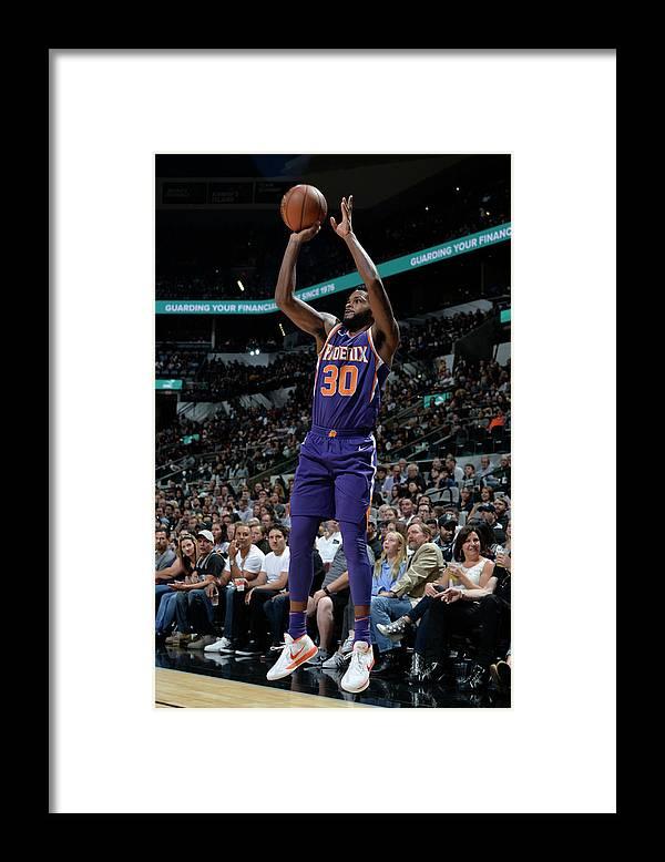 Nba Pro Basketball Framed Print featuring the photograph Antonio Daniels by Mark Sobhani