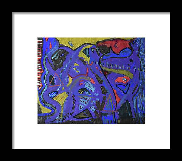 Colorado Framed Print featuring the painting Apparition by Pam Roth O'Mara