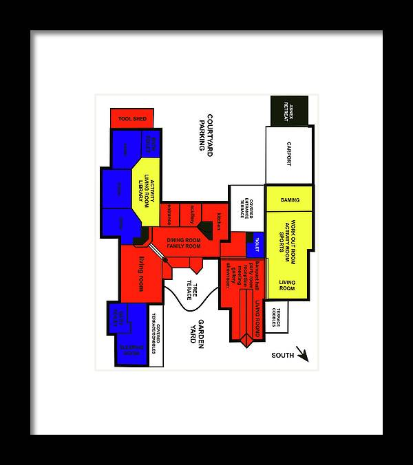 X-factor Luxurious House In Hedensted Framed Print featuring the mixed media Application PRIVATE DWELLING by Asbjorn Lonvig