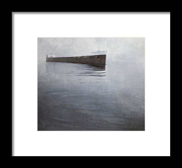 Framed Print featuring the painting Approach by Mary Jo Van Dell