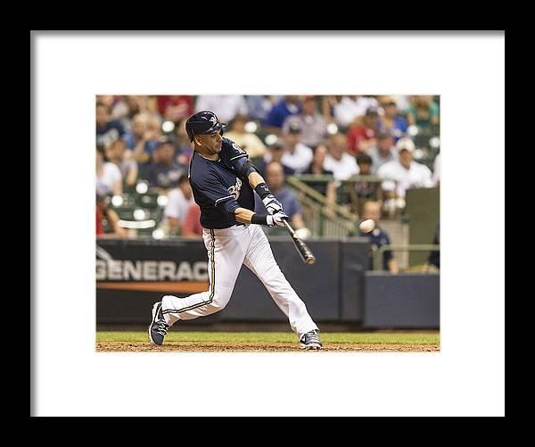 American League Baseball Framed Print featuring the photograph Aramis Ramirez and Michael Wacha by Tom Lynn
