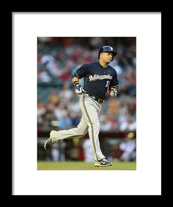 Second Inning Framed Print featuring the photograph Aramis Ramirez by Christian Petersen