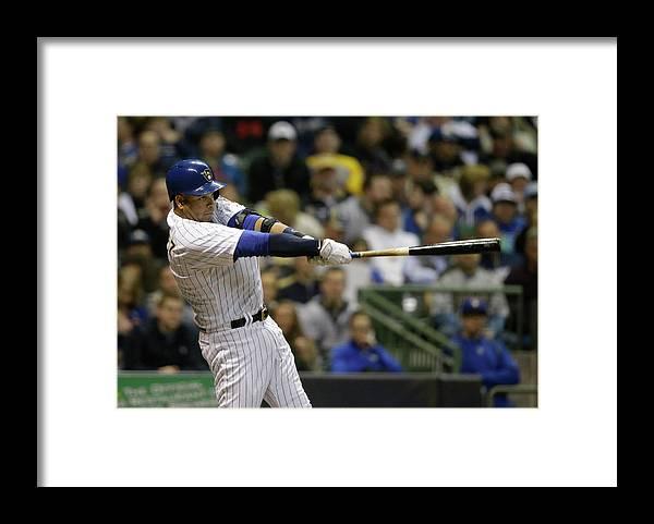 Three Quarter Length Framed Print featuring the photograph Aramis Ramirez by Jeffrey Phelps