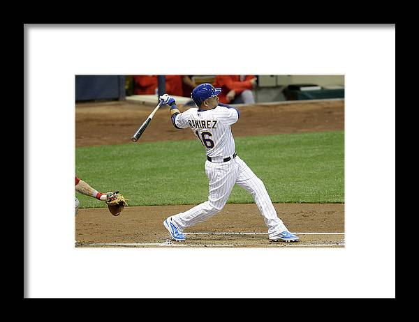 People Framed Print featuring the photograph Aramis Ramirez by Mike Mcginnis