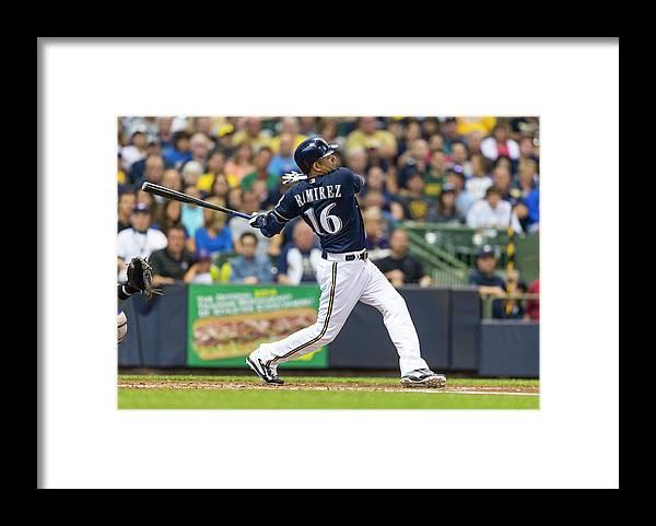 American League Baseball Framed Print featuring the photograph Aramis Ramirez by Tom Lynn