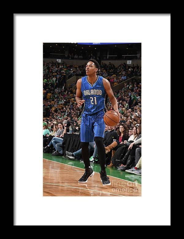 Nba Pro Basketball Framed Print featuring the photograph Arinze Onuaku by Steve Babineau