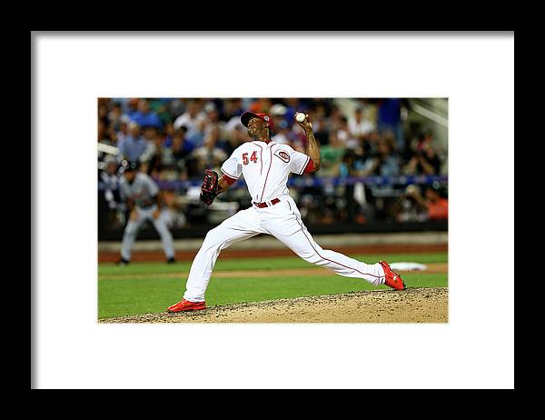 American League Baseball Framed Print featuring the photograph Aroldis Chapman by Elsa