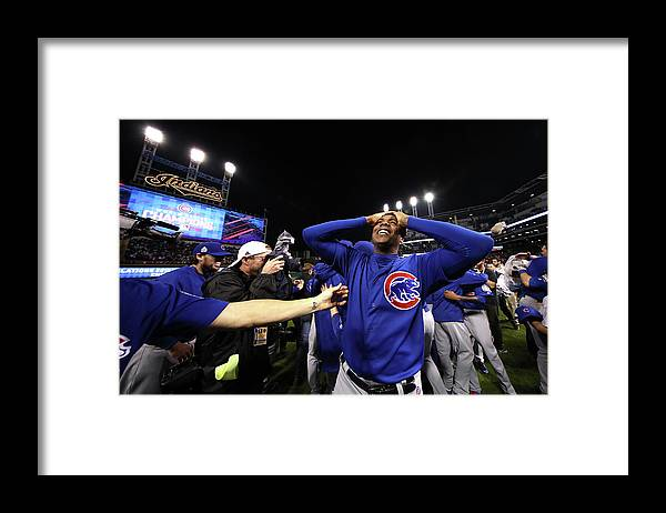 People Framed Print featuring the photograph Aroldis Chapman by Ezra Shaw