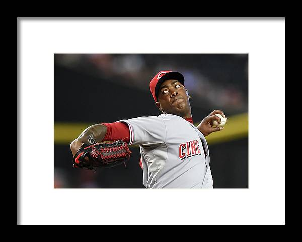 Ninth Inning Framed Print featuring the photograph Aroldis Chapman by Norm Hall