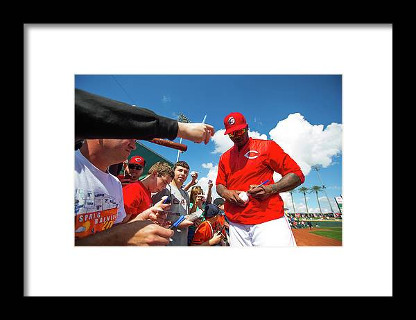 American League Baseball Framed Print featuring the photograph Aroldis Chapman by Rob Tringali