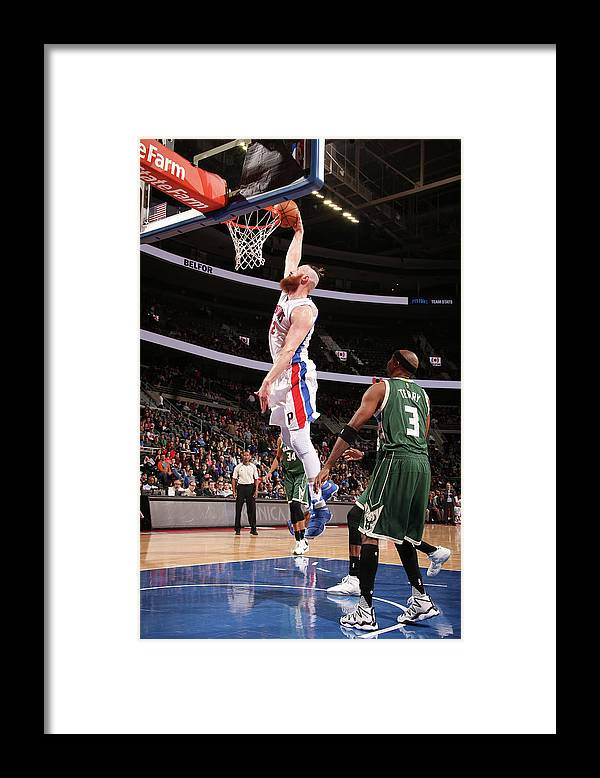 Nba Pro Basketball Framed Print featuring the photograph Aron Baynes by Brian Sevald