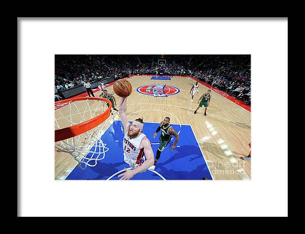 Nba Pro Basketball Framed Print featuring the photograph Aron Baynes by Chris Schwegler