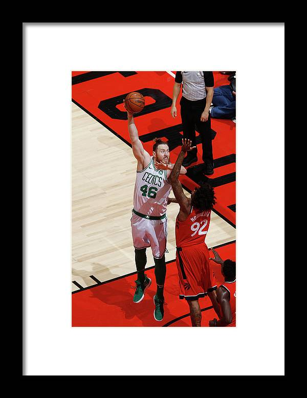 Nba Pro Basketball Framed Print featuring the photograph Aron Baynes by Mark Blinch