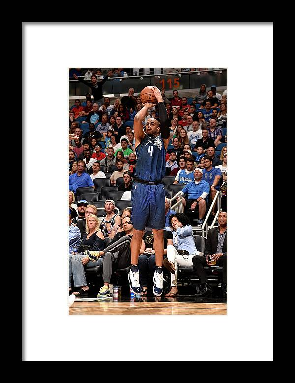Nba Pro Basketball Framed Print featuring the photograph Arron Afflalo by Gary Bassing