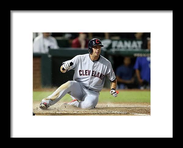 American League Baseball Framed Print featuring the photograph Asdrubal Cabrera And Jason Kipnis by Rick Yeatts