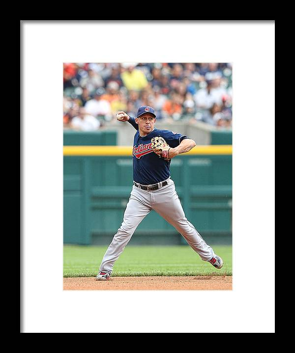 American League Baseball Framed Print featuring the photograph Asdrubal Cabrera and Torii Hunter by Leon Halip