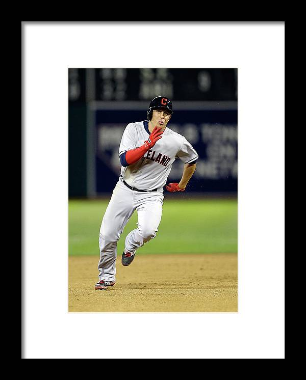 American League Baseball Framed Print featuring the photograph Asdrubal Cabrera by Ezra Shaw