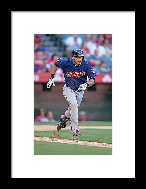 American League Baseball Framed Print featuring the photograph Asdrubal Cabrera by Paul Spinelli