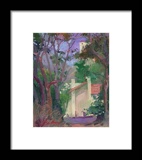 Pleinair Painting Framed Print featuring the painting At Jourey's End Plein Air by Betty Jean Billups
