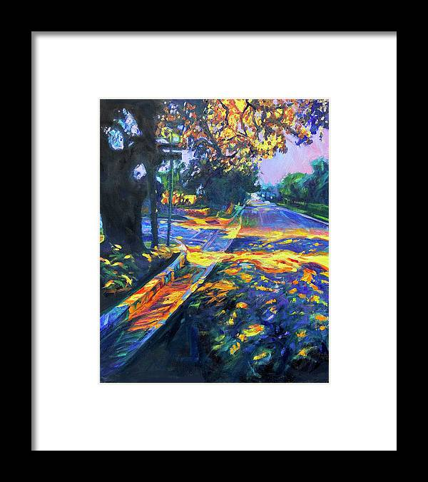 Sunset Framed Print featuring the painting At Peace by Bonnie Lambert