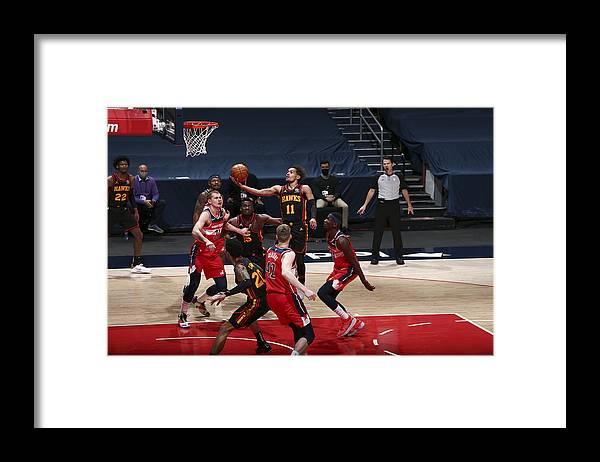 Nba Pro Basketball Framed Print featuring the photograph Atlanta Hawks v Washington Wizards by Ned Dishman