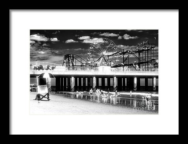 Steel Pier Memories Framed Print featuring the photograph Atlantic City Steel Pier Memories in New Jersey by John Rizzuto