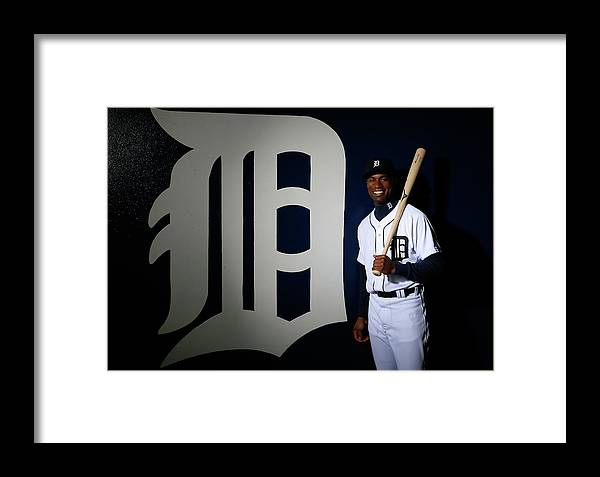 Media Day Framed Print featuring the photograph Austin Jackson by Kevin C. Cox