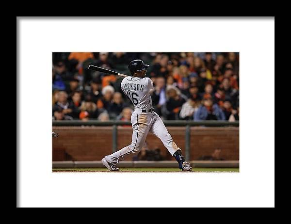 San Francisco Framed Print featuring the photograph Austin Jackson by Lachlan Cunningham