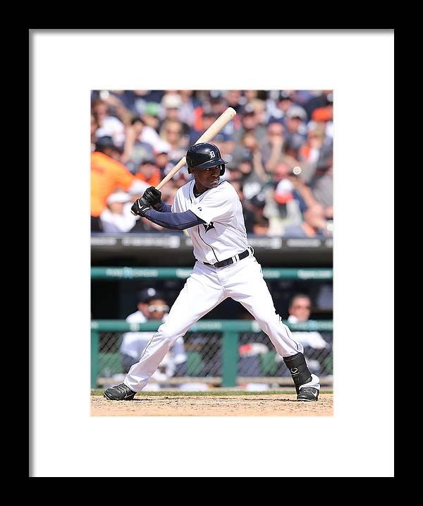 American League Baseball Framed Print featuring the photograph Austin Jackson by Leon Halip