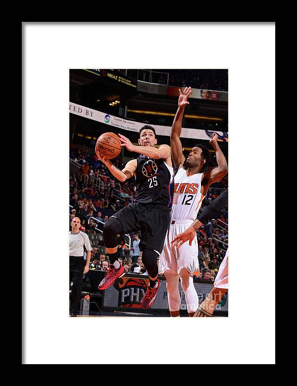 Nba Pro Basketball Framed Print featuring the photograph Austin Rivers by Barry Gossage