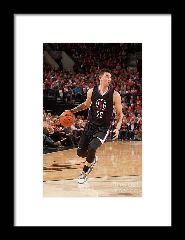 Nba Pro Basketball Framed Print featuring the photograph Austin Rivers by Cameron Browne